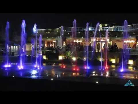 Smart walkable fountain at Hotel Al-Masah. Cairo. Egypt