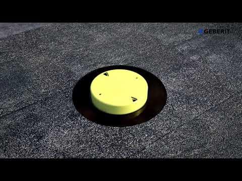 Gebeit Pluvia on bitumen solid roof - Installation