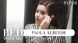 Paola Alberdi's Nighttime Skincare Routine   Go To Bed With Me   Harper's BAZAAR