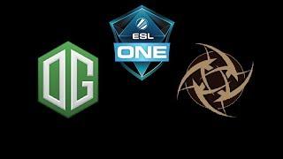 OG vs NiP ESL One Katowice 2019 Highlights Dota 2