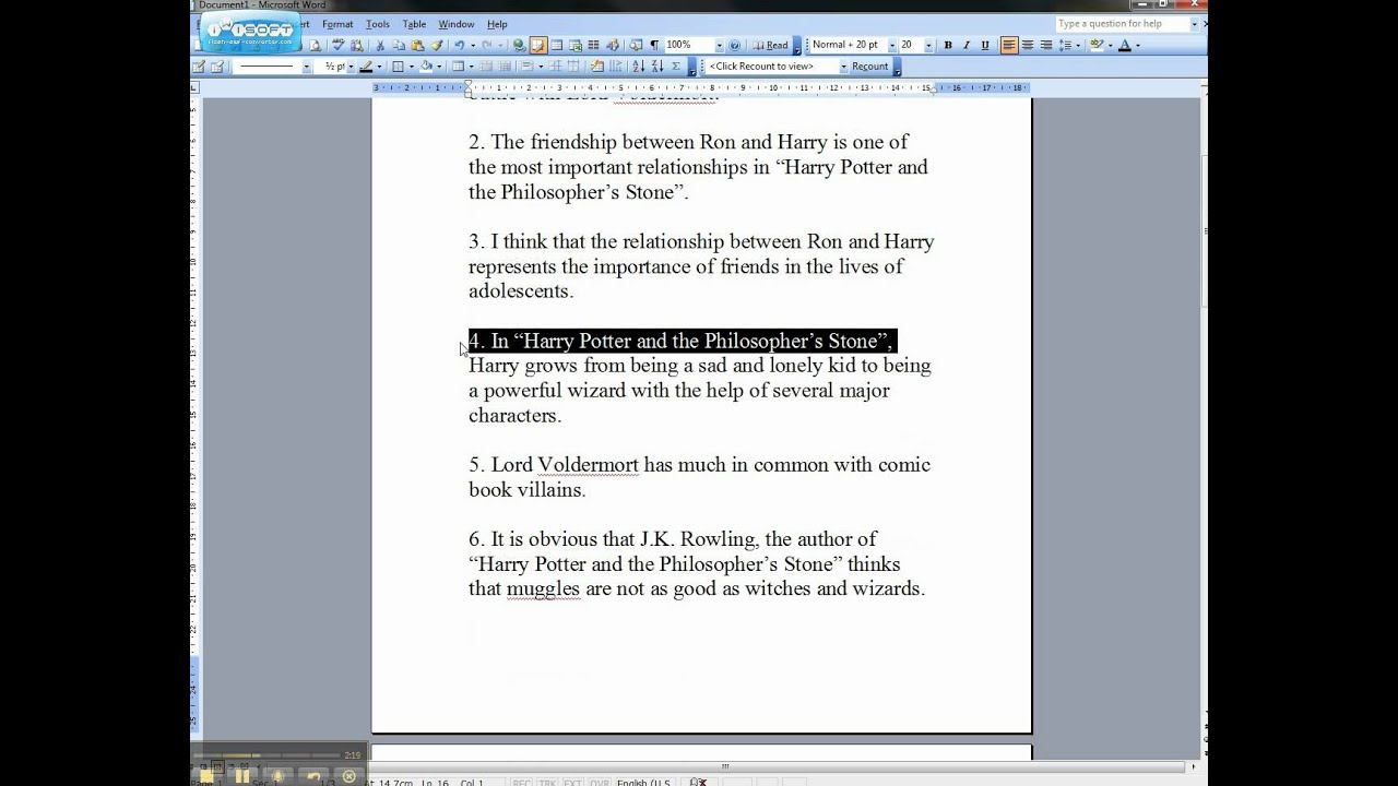 Phd thesis on harry potter