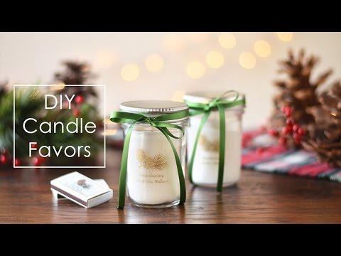 DIY Mason Jar Candle Favors