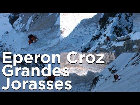Voie Slovène Eperon Croz Grandes Jorasses Face Nord Chamonix Mont-Blanc montagne alpinisme