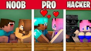 Monster School : NOOB vs PRO vs HACKER VALENTINE'S DAY CHALLENGE - Minecraft Animation