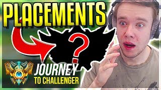 A NEW JOURNEY BEGINS! PLACEMENTS SEASON 8 - Journey To Challenger | League of Legends