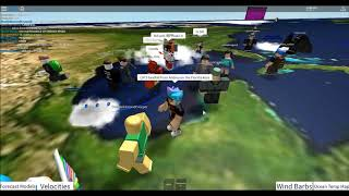 Lets Play: ROBLOX! - CAT5 HURRICANE In Hurricane Tracker 3! (75)