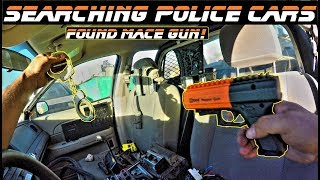 Searching Police Cars Found Mace Gun!