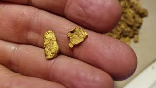 How to clean gold nuggets - Cleaning 294 grams of dirty raw gold