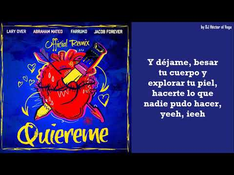 Quiereme Remix - Farruko, Abraham Mateo, Jaycob Forever & Lary Over (Letra/Lyrics)