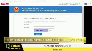 FBNC - Tra điểm thi THPT quốc gia trên web và di động