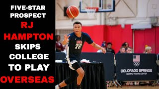 Top Basketball Prospect RJ Hampton SKIPPING College to Play Overseas | CBS Sports HQ