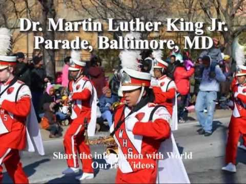 Pictures of Dr. Martin Luther King(MLK) Jr. Parade, Baltimore, MD, US