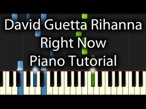 Baixar Rihanna / David Guetta - Right Now Tutorial (How To Play On The Piano)
