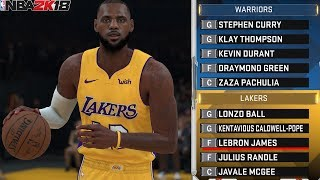 Can Los Angeles Lakers With LeBron Beat Warriors in 2018-19 NBA Season? NBA 2K18