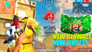 New Jersey And Glu-wall Gameplay With AWM || Amazing AWM Headshots || Garena Free Fire - P.K. GAMERS