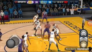 NBA Live Mobile Exibition game Warriors vs Lakers
