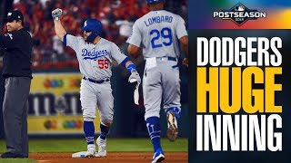 Dodgers unleash 7-run inning to break open NLDS Game 3 (Justin Turner home run) | NLDS Highlights