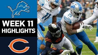 Lions vs. Bears | NFL Week 11 Game Highlights