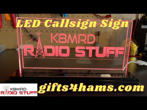 Laser Etched | LED Callsign Sign.