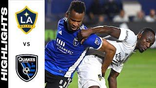 HIGHLIGHTS: LA Galaxy vs  San Jose Earthquakes | August 20, 2021