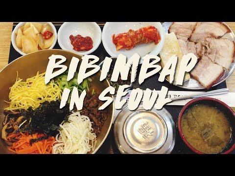 Korean Food: Amazing BIBIMBAP in Seoul   & Daily Life 캐나다 아내가 좋아하는 한식: 비빔밥 & 일상 (자막 CC)