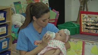 Pamela se prepara para ser mamá ¡trabajando en una guardería!