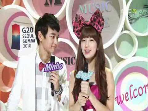 Minho (SHINee) & Suzy (Miss A) Moments @Music Core 101106