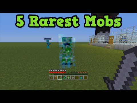 Minecraft Xbox 360 + PS3 Top 5 Rarest Mobs