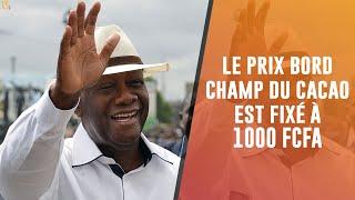 Fixation Du Prix Du Cacao Pour La Campagne Principale 2020-2021 À 1 000 Francs Cfa