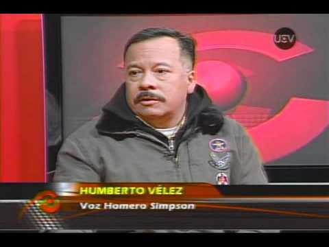 Entrevista Homero Simpson y Sr. Burns en Chile.