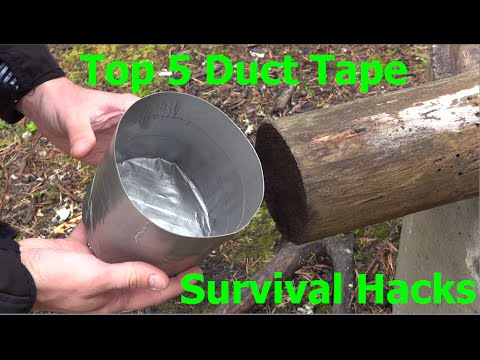 Top 5 Duct Tape Survival Hacks.