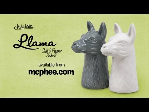 Llama Salt And Pepper Shakers - Archie McPhee - Smashpipe Comedy
