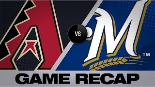 Lyles, Moustakas lead Brewers past D-backs | D-backs-Brewers Game Highlights 8/23/19