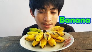 EAting show eat egg bananas - eat delicious fruit - eating sound by Mono