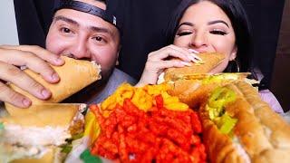 SUBWAY SUBS + CHEETOS MUKBANG | EATING SHOW
