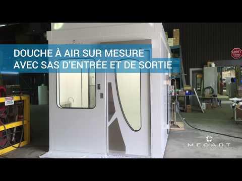 Douche à air pour salles blanches - Conçue sur mesure par Mecart