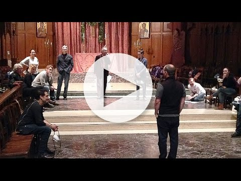 "Marin Theatre Company's ""Anne Boleyn"" rehearsal at Grace Cathedral"