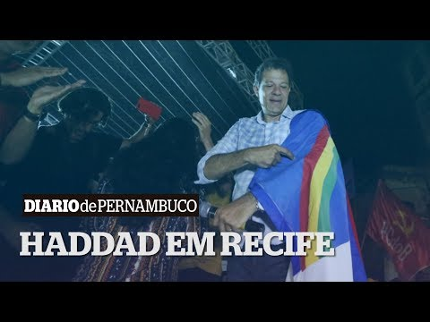 No Recife, Haddad faz o último ato da sua campanha eleitoral