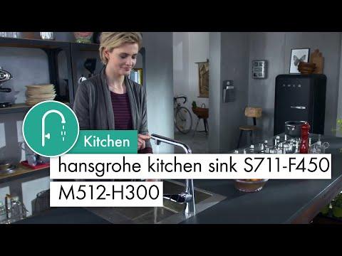 hansgrohe kitchen sink S711-F450 M512 H300