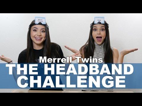 The Headband Challenge - Merrell Twins