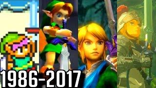 Evolution of Master Sword Cutscenes in Zelda Games (1986-2017)