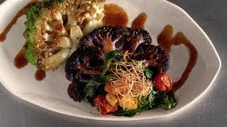 Teppan-Seared Cauliflower Steak
