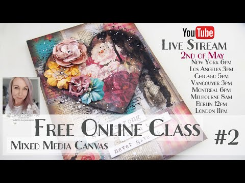 Free Online Class from Maremi ~ Collage Mixed Media CANVAS ~ #2