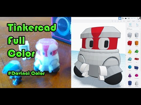 Full Color 3D printing  in Tinkercad