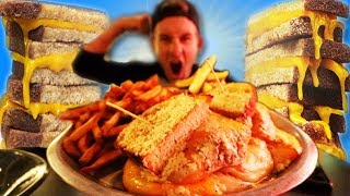 THE MEGA MELT GRILLED CHEESE CHALLENGE! (10,000+ CALORIES)