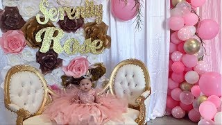 SERENITY'S FIRST BIRTHDAY PARTY **so beautiful**