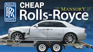 REBUILDING A WRECKED ROLLS ROYCE GHOST MANSORY LIVE AUCTION AND PICKING UP THE ROLLS