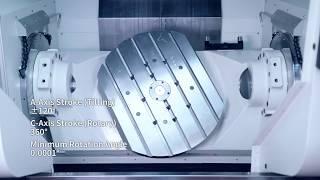 The most modern milling machine M3x5AX &  M4x4AX