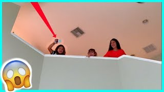 DROPPING MY IPHONE FROM THE SECOND FLOOR / MOM IS MAD   SISTERFOREVERVLOGS #534