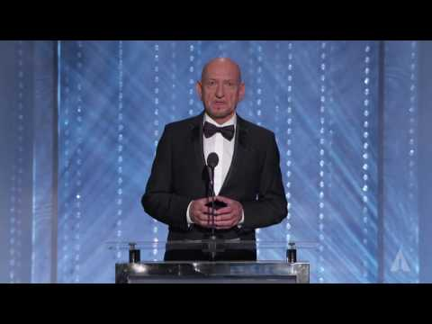 Ben Kingsley honors Frederick Wiseman at the 2016 Governors Awards